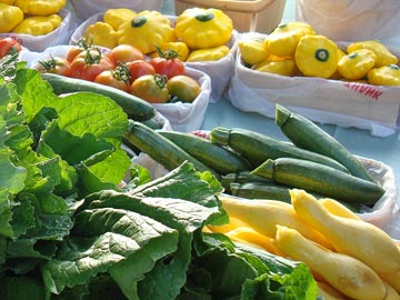 Vegetables at the Historic Longview Farmers Market